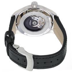 Alpina Men's 'Aviation Pilot' Black Dial Black Leather Strap Watch