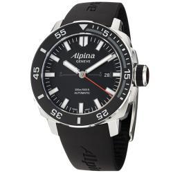 Alpina Men's 'Adventure' Black Dial Black Rubber Strap Automatic Watch