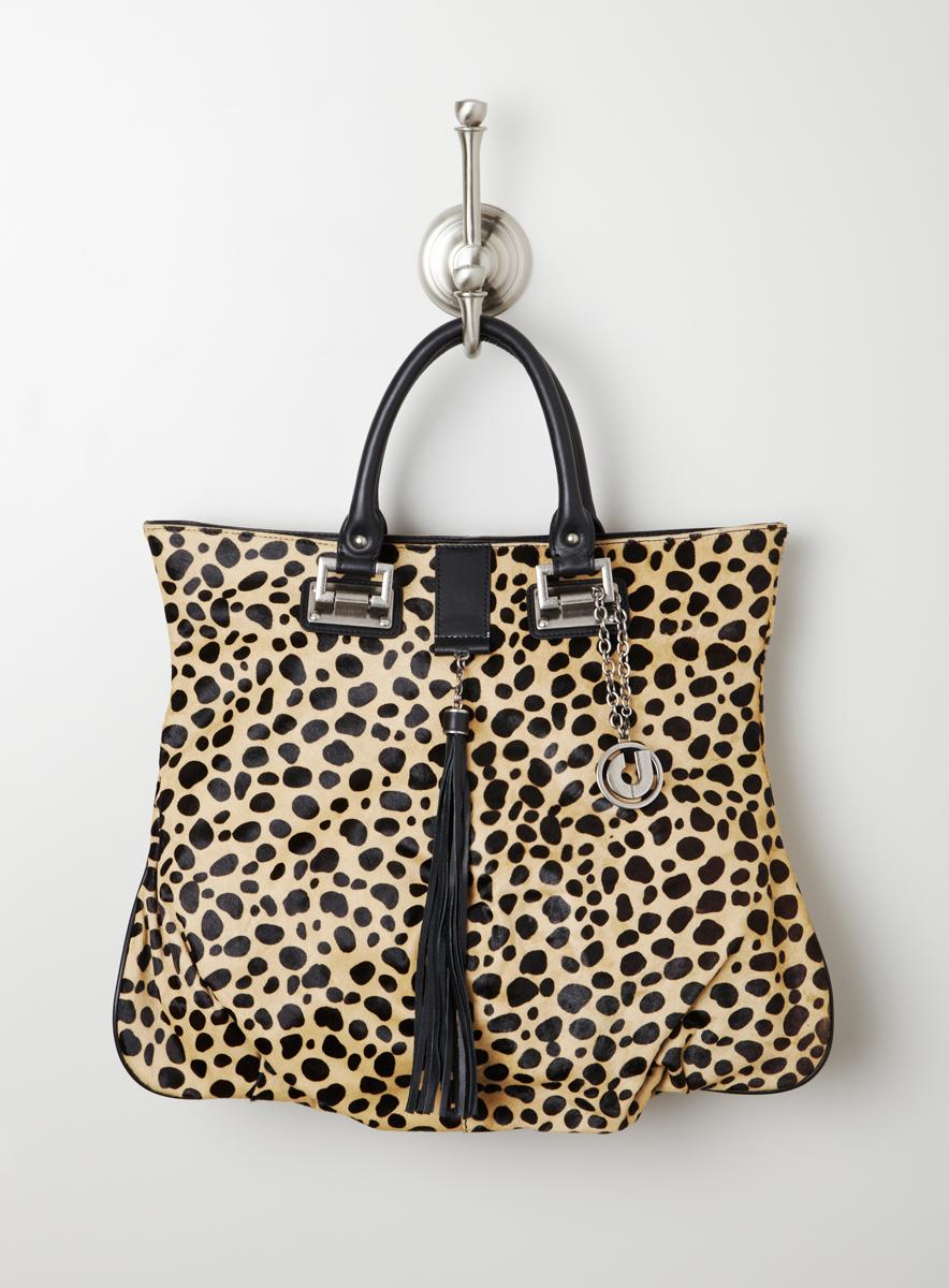 Charles Jourdan Leopard Haircalf Tote