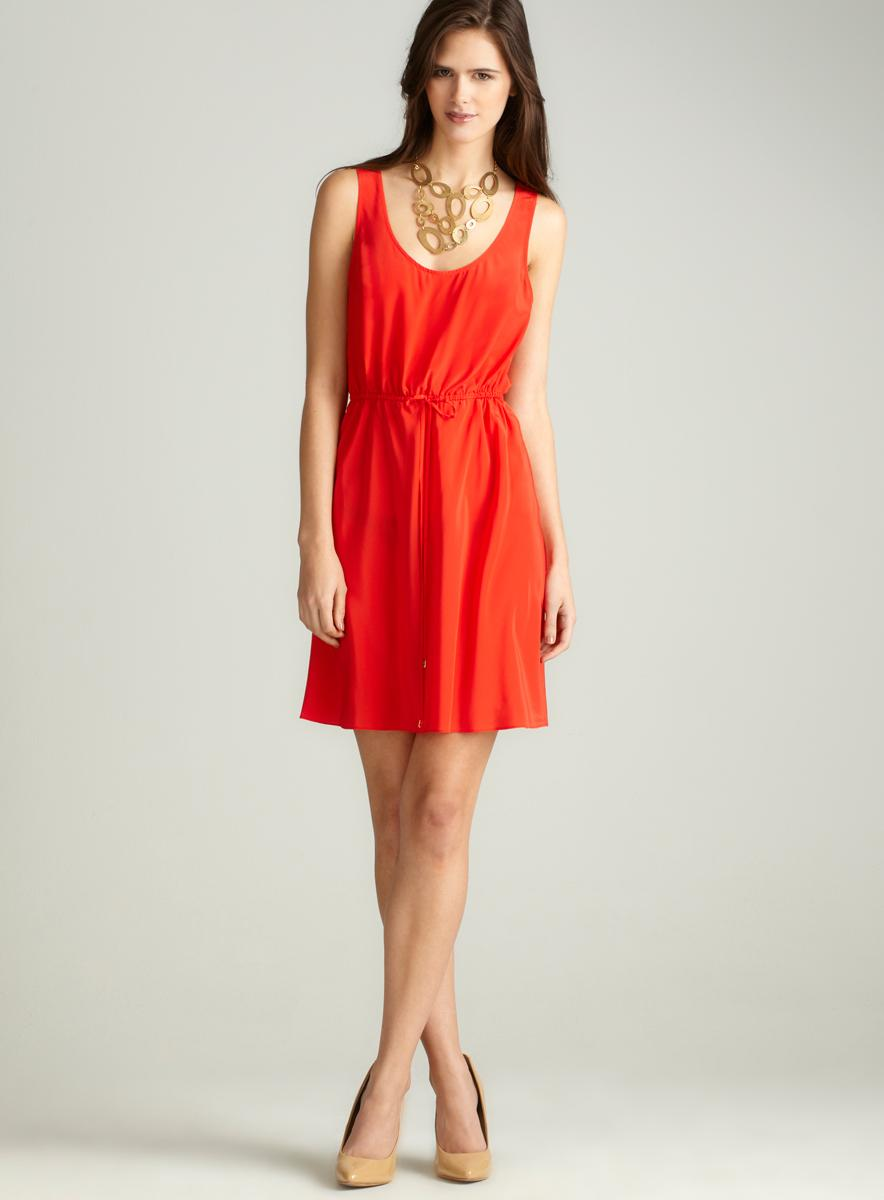 Donna Morgan X-Back Elastic Waist Dress