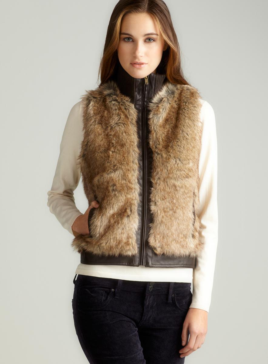 Live A Little Zip Front Fur Vest