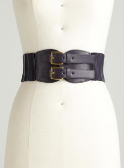 Steve Madden Wide Corset Buckle Belt