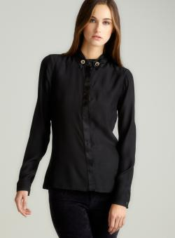 Versace Long Sleeve Blouse With Collar