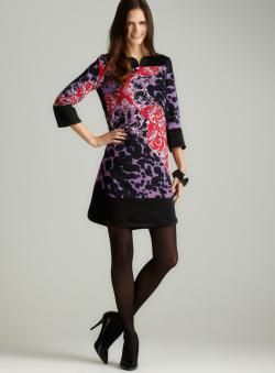 Versace Printed 3/4 Sleeve Dress