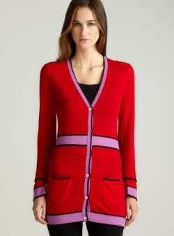 Versace Stripe Detail Cardigan
