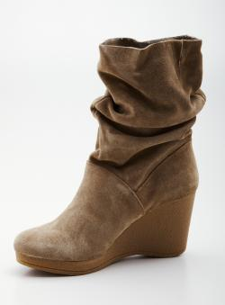 White Mountain Oracle Mid Heeled Wedge Boot