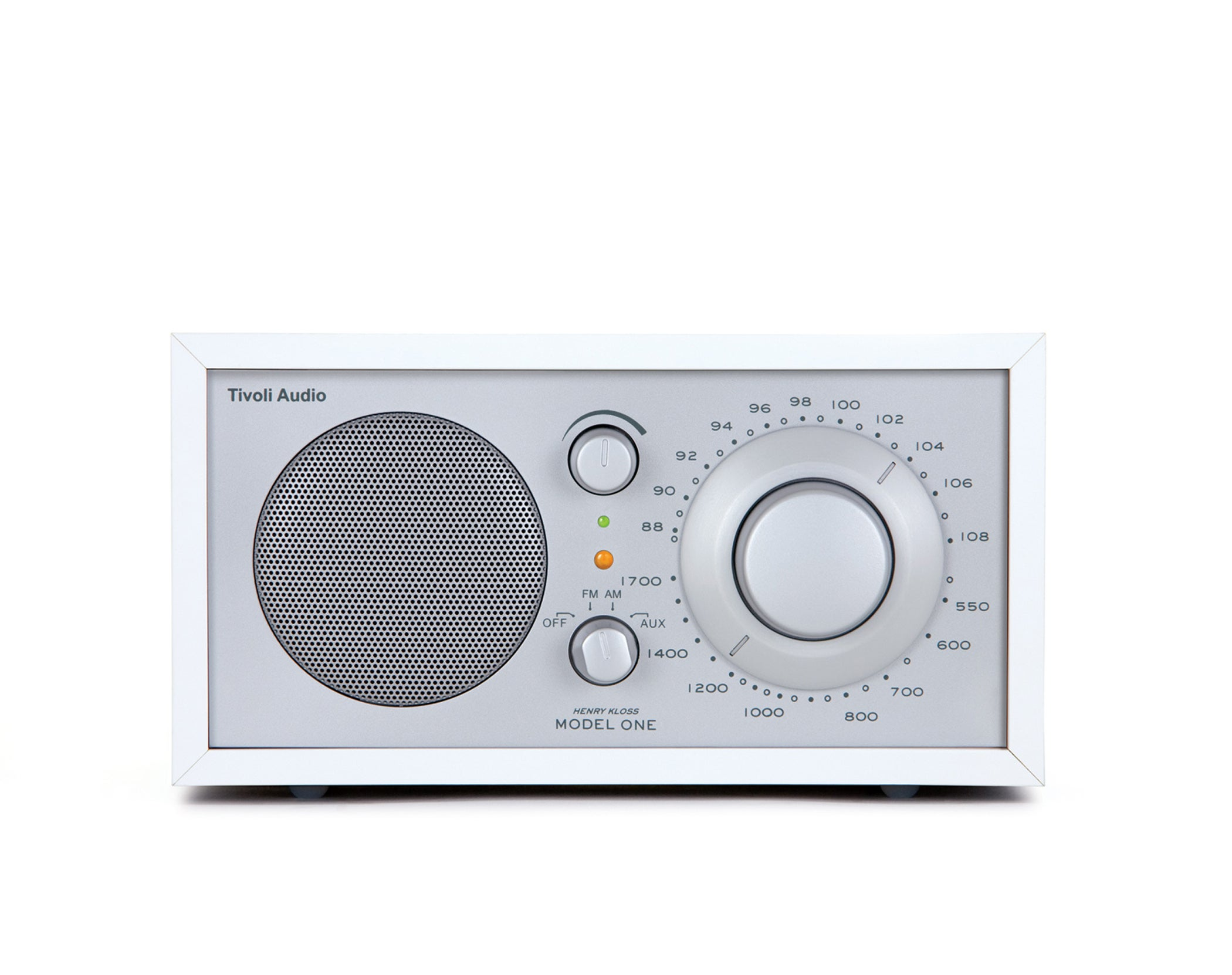 Tivoli Model One Henry Kloss AM/FM Mono Table Radio - White/Silver