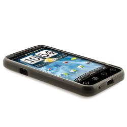 Clear Smoke TPU Case/ Screen Protector/ Car Charger for HTC EVO 3D