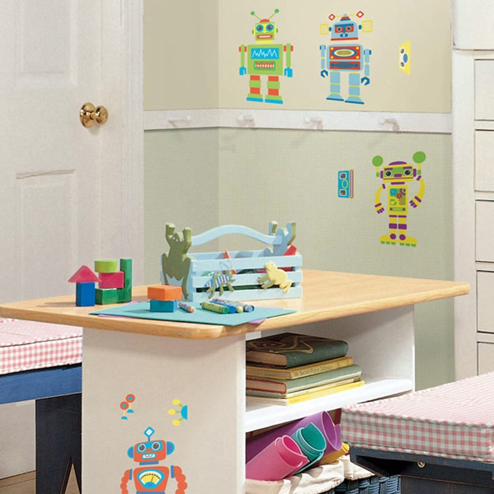 RoomMates Build Your Own Robot Peel and Stick Wall Decals