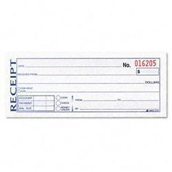 Adams Business Forms Money/Rent Receipt Book