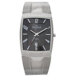 Skagen Men's Titanium Black Dial Watch