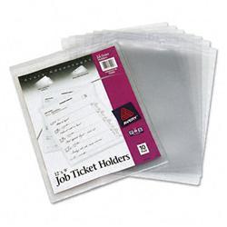 Avery Job Ticket Holders Heavy Gauge Vinyl 9 x