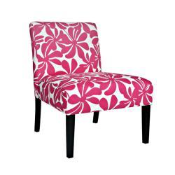 Portfolio Niles Pink Floral Armless Chair