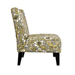 Portfolio Hali Lily Floral Grey Armless Chair