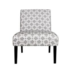 Portfolio Niles Gray Geometric Links Armless Chair