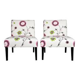 Portfolio Niles Spiral Garden Armless Chair (Set of 2)