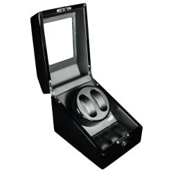Steinhausen 4-mode Dual Black Lacquer Coated Wood Watch Winder