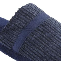 Daxx Men's Fuzzy Banded Corduroy Slippers