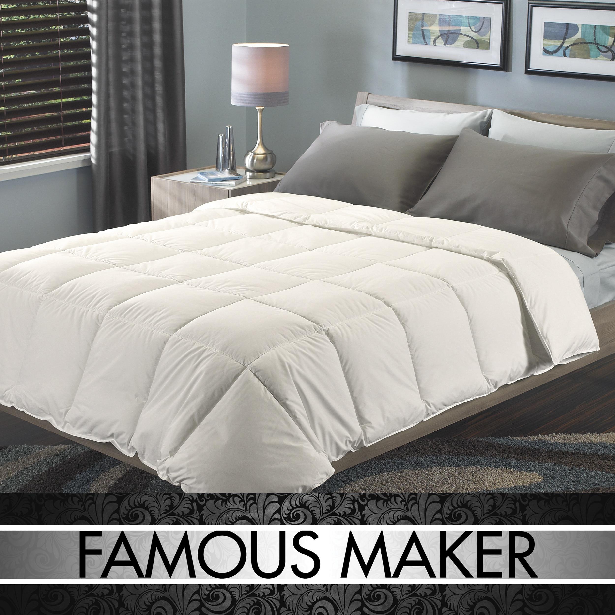 Famous Maker Signature EuroBox Stitch Down-alternative Comforter
