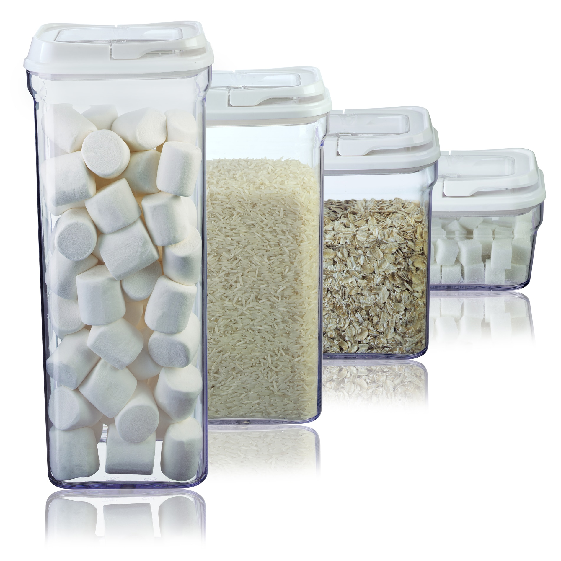 Art and Cook White 4-piece Storage Container Set