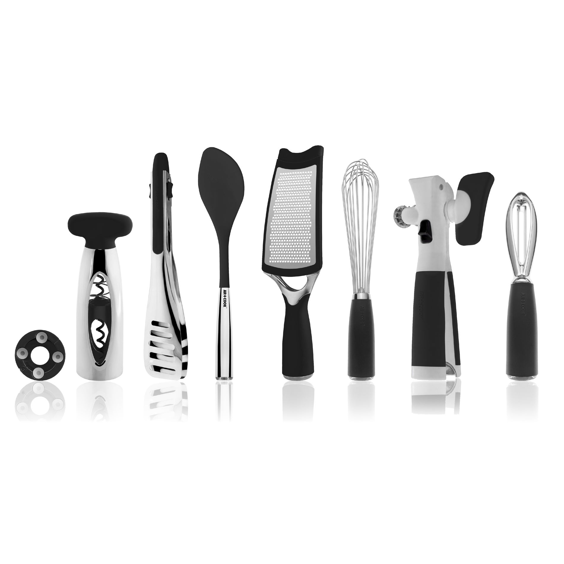 Art and Cook Black 8-piece Kitchen Tool Set