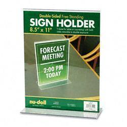 Nu-Dell T-Frame Base Desktop Sign Holder Acrylic