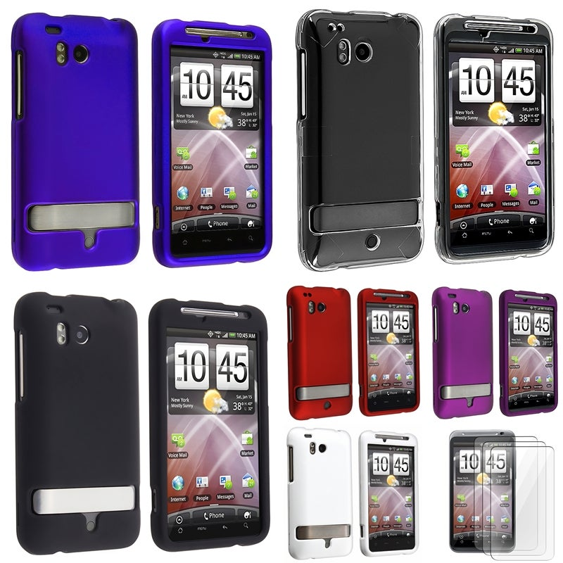 Crystal Case/ Rubber Coated Cases/ Protectors for HTC ThunderBolt 4G