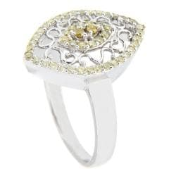 10k White Gold 1/2ct TDW Brown Diamond Fashion Ring