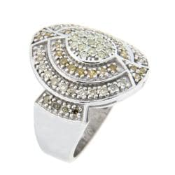10k White Gold 7/8ct TDW Brown Diamond Fashion Ring