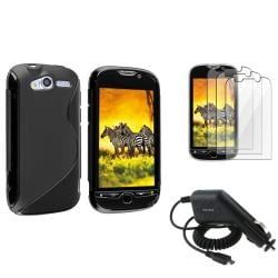 Black TPU Case/ LCD Protector/ Car Charger for T-Mobile HTC MyTouch 4G