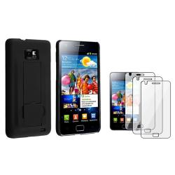 Black Rubber Coated Case/ Protector for Samsung Galaxy S II GT-i9100