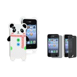 Panda TPU Case/ Privacy Filter Screen Protector for Apple iPhone 4/ 4S