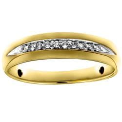 10k Yellow Gold Men's 1/10ct TDW Diamond Ring (H-I, I2-I3)