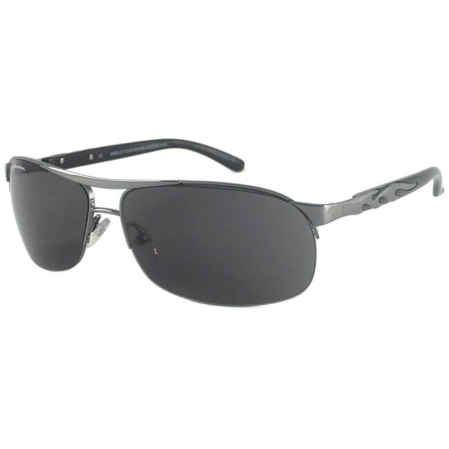 Harley Davidson Unisex HDS589 Rectangular Sunglasses