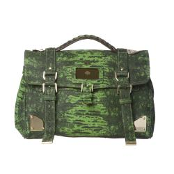 Mulberry Green Printed Leather Satchel