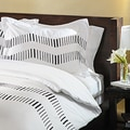 Zig Zag Embroidered 3-piece Duvet Cover Set