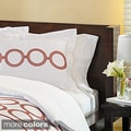 Circles Embroidered 3-piece Duvet Set