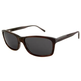 Michael Kors Men's MKS696 Davenport Rectangular Burgundy-Horn/Gray Sunglasses