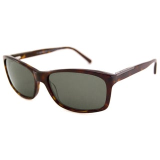 Michael Kors Men's MKS696 Davenport Rectangular Tortoise/Green Sunglasses