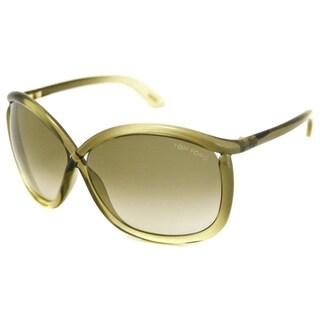 Tom Ford Women's TF0201 Charlie Green Rectangular Sunglasses