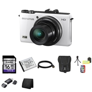 Olympus XZ-1 10MP White Digital Camera 16GB Bundle