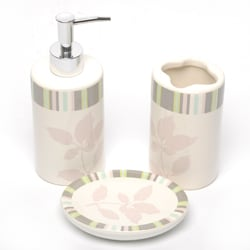 Waverly by Famous Home Wind Bath Accessory 3-piece Set