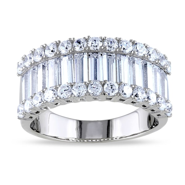 Miadora Sterling Silver Cubic Zirconia Anniversary Ring