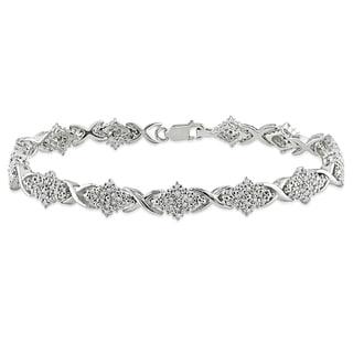 Miadora Sterling Silver 1ct TDW Diamond Bracelet (I-J, I2-I3)