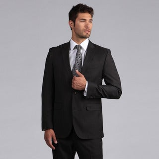 Ike by Ike Behar Men's Luxury Charcoal Sharkskin Suit
