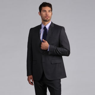 Ike by Ike Behar Men's Grey Stripe Suit