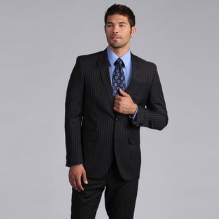 Ike by Ike Behar Men's Luxury Charcoal Suit