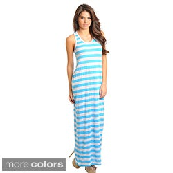 Stanzino Women's Daytime Striped Racerback Maxi Dress