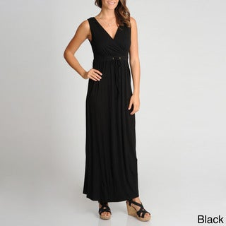 Lennie for Nina Leonard Women's Tie Front Maxi Dress
