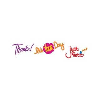 Sizzix Sizzlits 'Thanks!, It's Your Day, Just a Note' Deco Strip Die